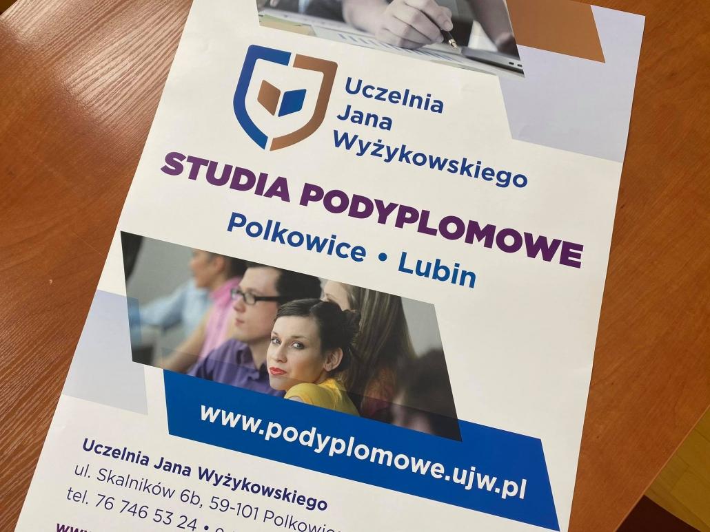 Zdjęcie plakatu studiów podyplomowych