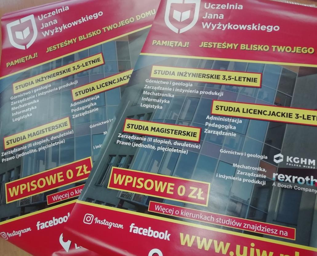 Plakat dotyczący rekrutacji nastudia wUJW