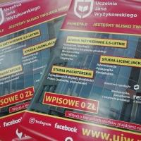 Plakat dotyczący rekrutacji na studia w UJW